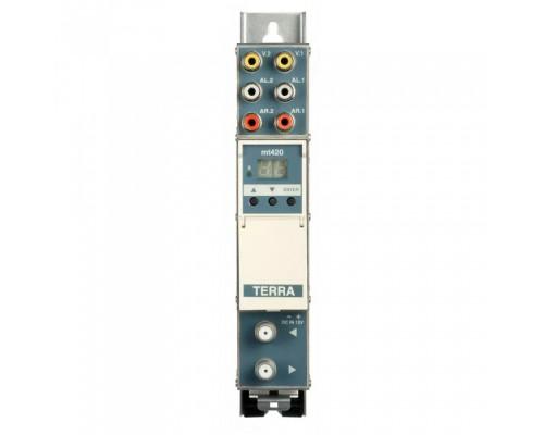 Модулятор ТВ каналу здвоєний односмуговий, стерео - MT420C TERRA