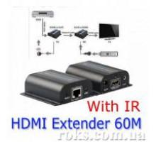 Комплект приймач-передавач HDMI / DVI Lenkeng, подовжувач 60 м LKV372